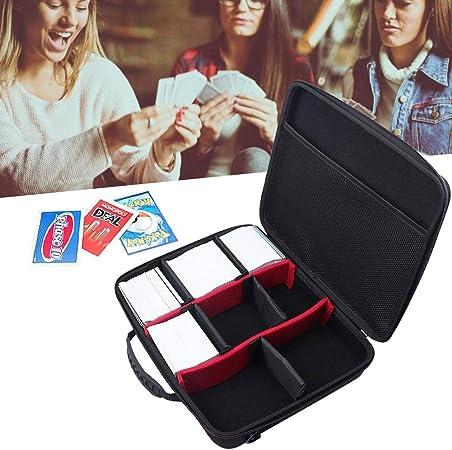 Campinery Juego de Cartas Battle Card Storage Bag Estuche de Tarjeta de Juego Duro Extra Grande para Tarjeta 2200+ para C. A. H. Juego de Cartas con Correa para el Hombro Enjoyable: