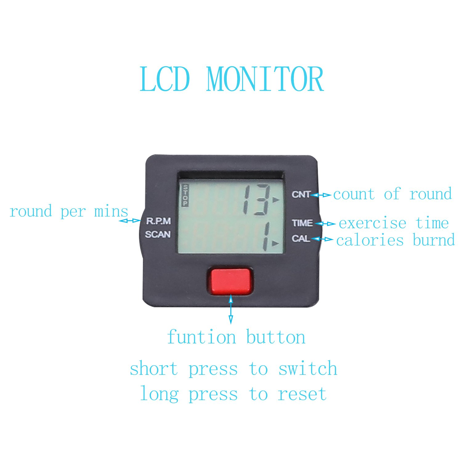 TODO Pedal Exerciser Foot Peddler Desk Bike Foldable with LCD Monitor by TODO (Image #2)