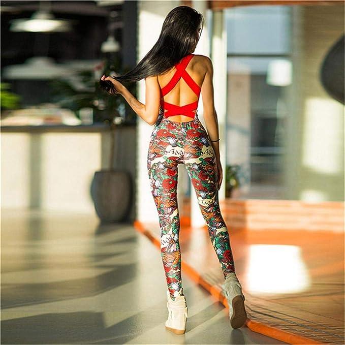 Dedeka Mujeres Deporte Yoga Monos Vendaje una Sola Pieza Pantalones de Fitness Mono Vendaje Pantalones de ch/ándal pantal/ón Mujer Deportes Yoga Traje ch/ándal Mono Elegante Mono