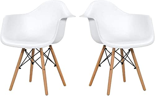 Happygrill 2-Piece Modern Dining Chairs Ergonomic Chair
