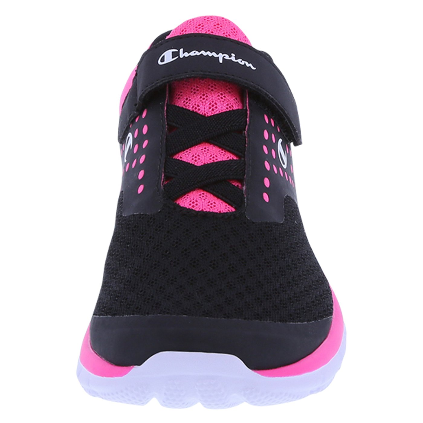 c090ab314a84eb Amazon.com  Champion Girls  Black Pink Mesh Girls  Gusto Strap Cross Trainer  5.5 Regular  Shoes