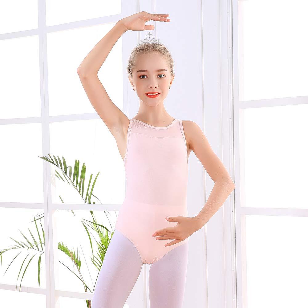 Soudittur Ballet Leotards for Girls Sleeveless Cotton Tank Tops for Dance Costumes Gymnastics Dancewear
