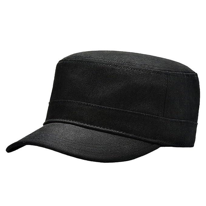5a8a827fdb494 Panegy - Gorra Visera Sombrero para Hombre con Visera Corta Sombrero de Sol  - Negro  Amazon.es  Ropa y accesorios