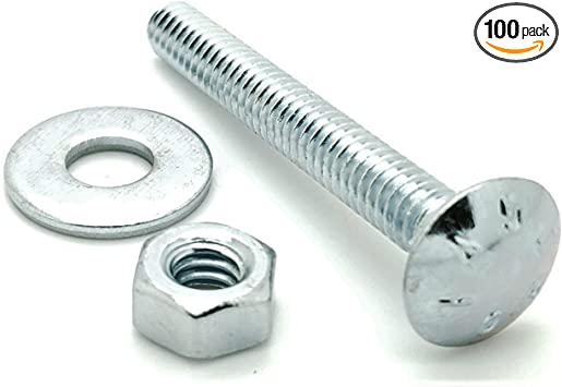 8 Sets 304 Stainless Steel Hex Bolts w//Washers /& Nuts 5//16-18 x 3//4 18-8 Choose Size