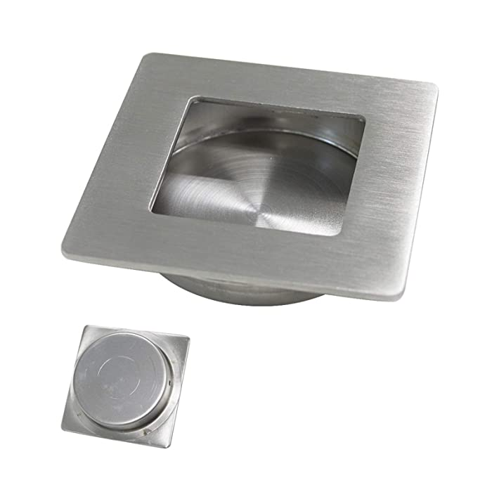 Probrico Recessed Furniture Door Handles And Knobs Flush Pull Stainless Steel Square 70mm