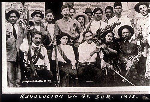 Mexican Revolution Poster (Historical Vintage Old Photos 8 x 10 mexican-revolution-mexico-revolucion-en-el-sur-1912)