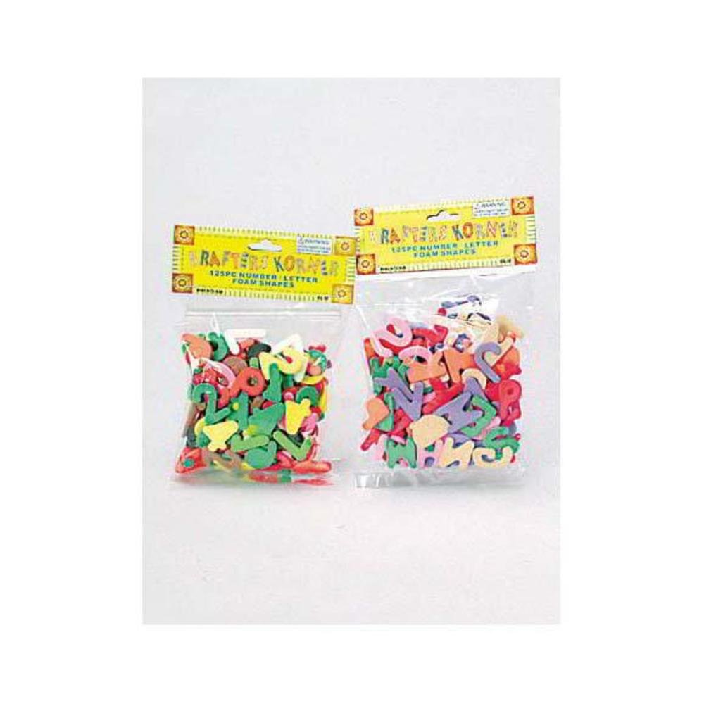 72 125 Pack number and letter foam shapes