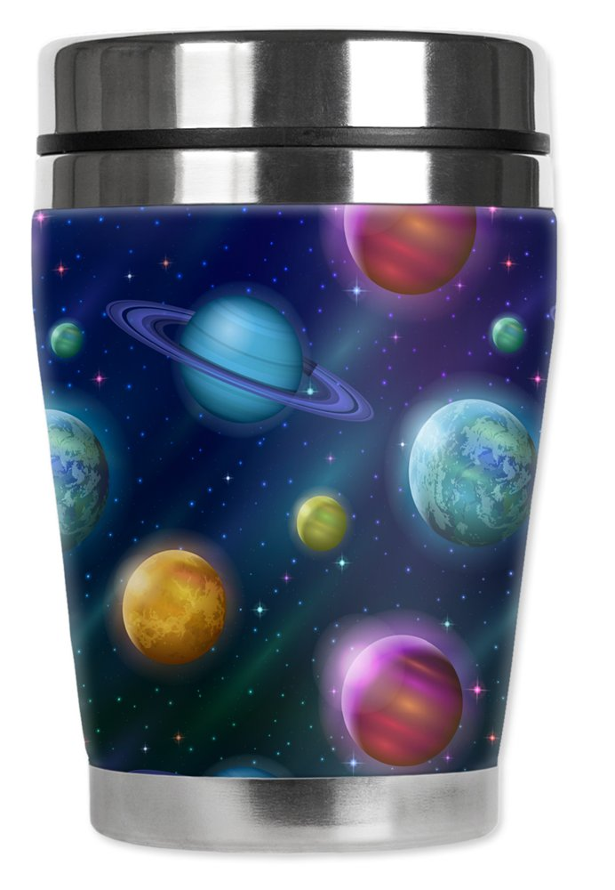 Mugzie 10 Ounce ''MINI'' Stainless Steel Travel Mug with Wetsuit Cover - Solar System