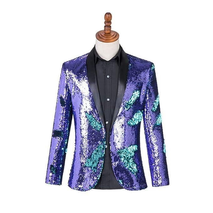 Amazon.com: Blazer Coats Chaquetas Hombres Traje Danza ...