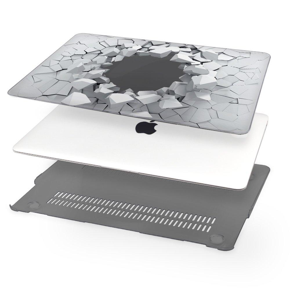 Funda Dura Protector de Pl/ástico Cubierta para MacBook Air 13 Pulgadas 2018 Modelo TwoL Carcasa MacBook Air 13 A1932 A1932 con Retina Display//Touch ID Piedra Transparente