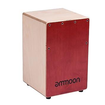 ammoon Cajon Box Drum Hand Drum Birch Wood with Strings Carrying Bag  sc 1 st  Amazon.com & Amazon.com: ammoon Cajon Box Drum Hand Drum Birch Wood with ... Aboutintivar.Com