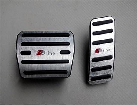 Car Pedals Gas Brake Footrest Pedal Cover  For Audi A4 A5 A6 A7 A8L AT