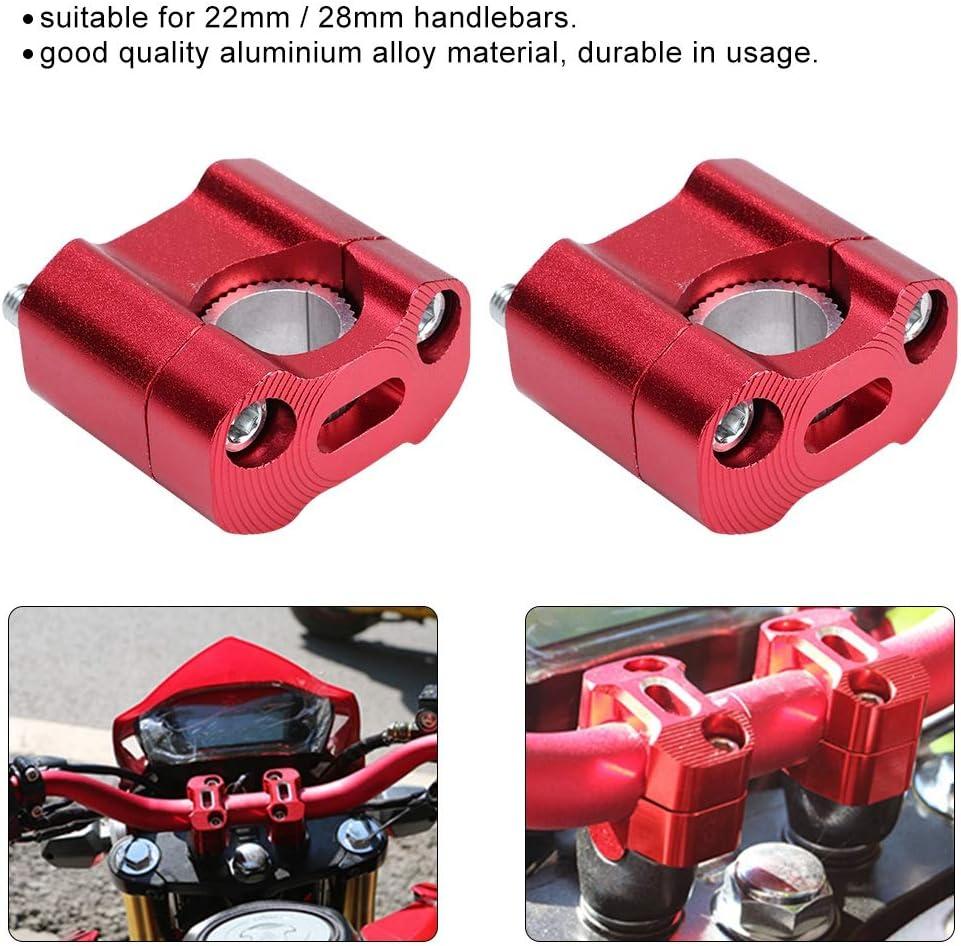 1 Pair of 22mm 28mm Bar Clamps Handlebar Risers for Motorcycle Refit Accessories Red Handlebar Riser