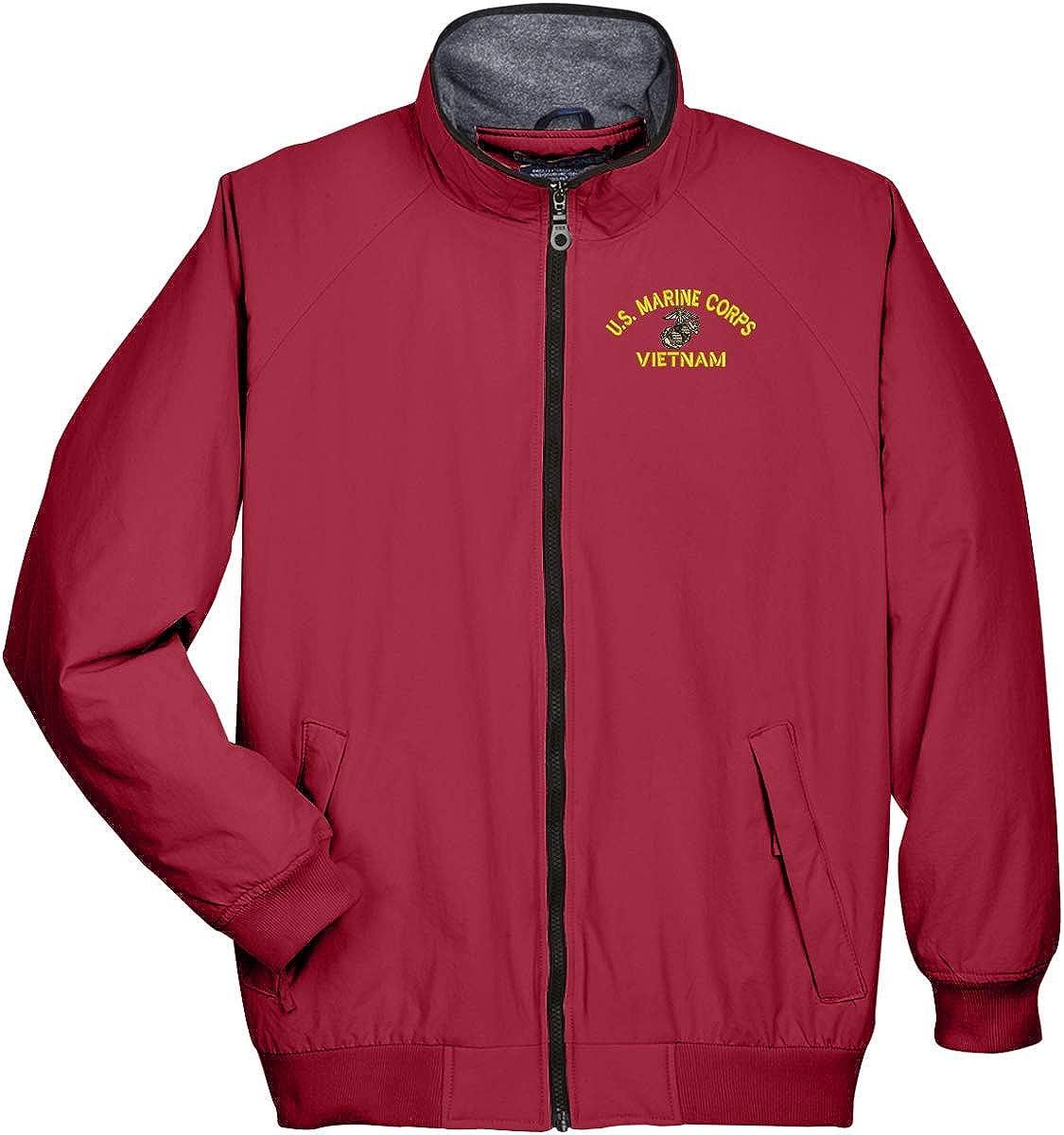 Fllay Mens Warm Packable Lightweight Short Stand Collar Zipper Down Jacket Coat