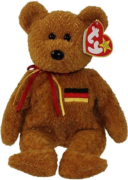 by Beanie Buddies GERMANIA the Bear German Exclusive TY Beanie Buddy