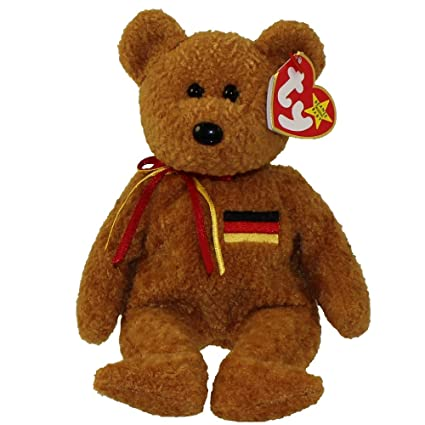 4b4eaaa697d Image Unavailable. Image not available for. Color  TY Beanie Baby Germania  the Bear Tag Written in German with German Flag