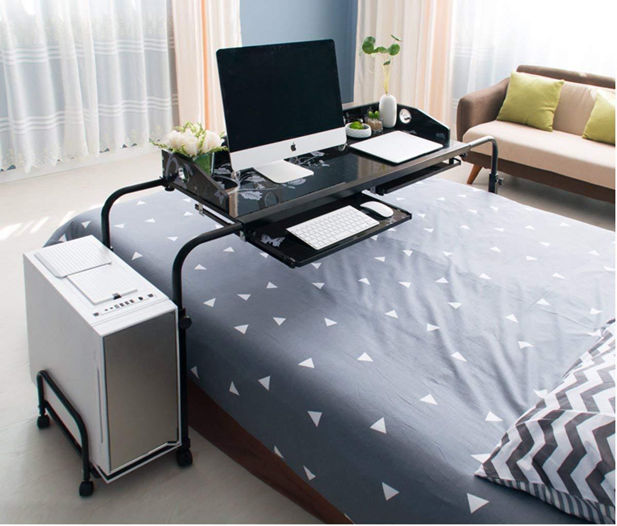 Scrivania//tavolo da letto movibile e regolabile Ybaymy mobile per computer da 1,2/m stazione di lavoro per casa // ufficio con ruote
