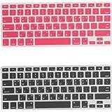 Homyl MacBook Pro 13 / 15インチ用 2ピース 韓国語 シリコーン キーボードプロテクターカバー