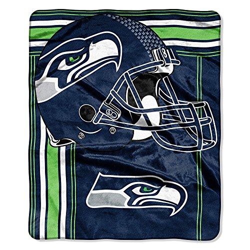 NFL Seattle Seahawks Touchback Plush Raschel Throw, 50