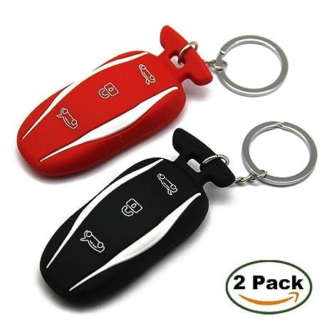 Amazon.com: Topfit - Llavero de silicona para el coche, Rojo ...