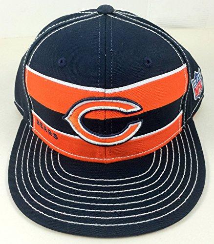 Reebok Chicago Bears Cotton Snapback Hat NZ951 Blue Orange Team Apparel