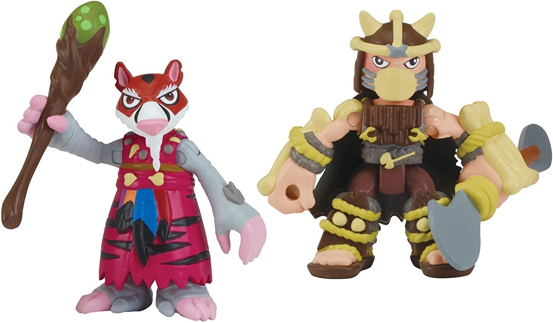 Nickelodeon Teenage Mutant Ninja Turtles Pre-Cool Half Shell Heroes Dino Splinter and Dino Shredder Figures