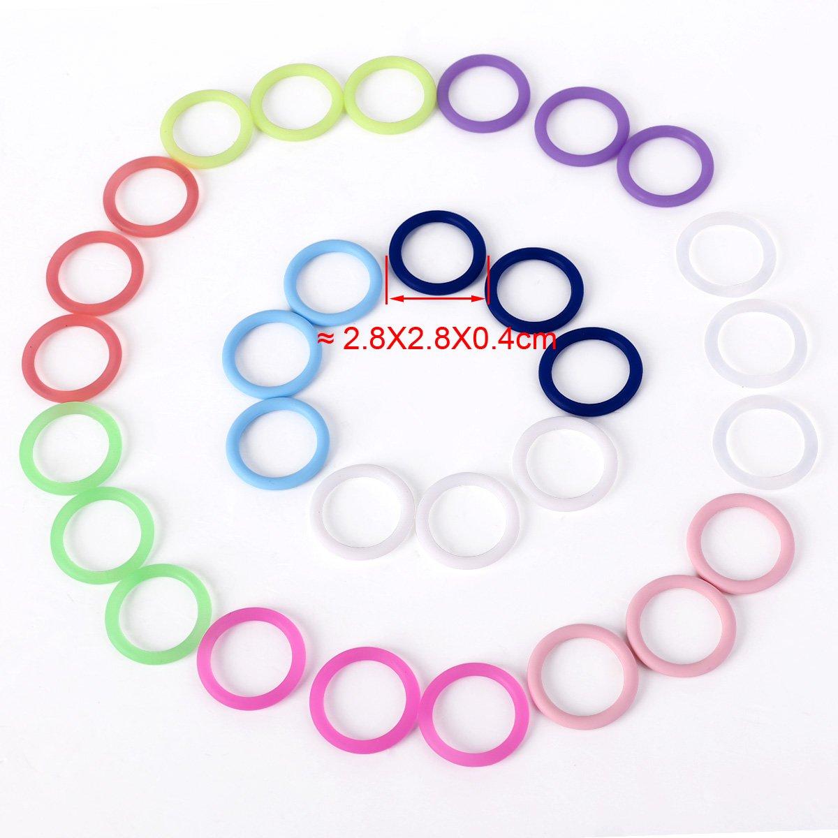 CLE DE TOUS - Pack de 30 Anillas de silicona para cadenas de ...