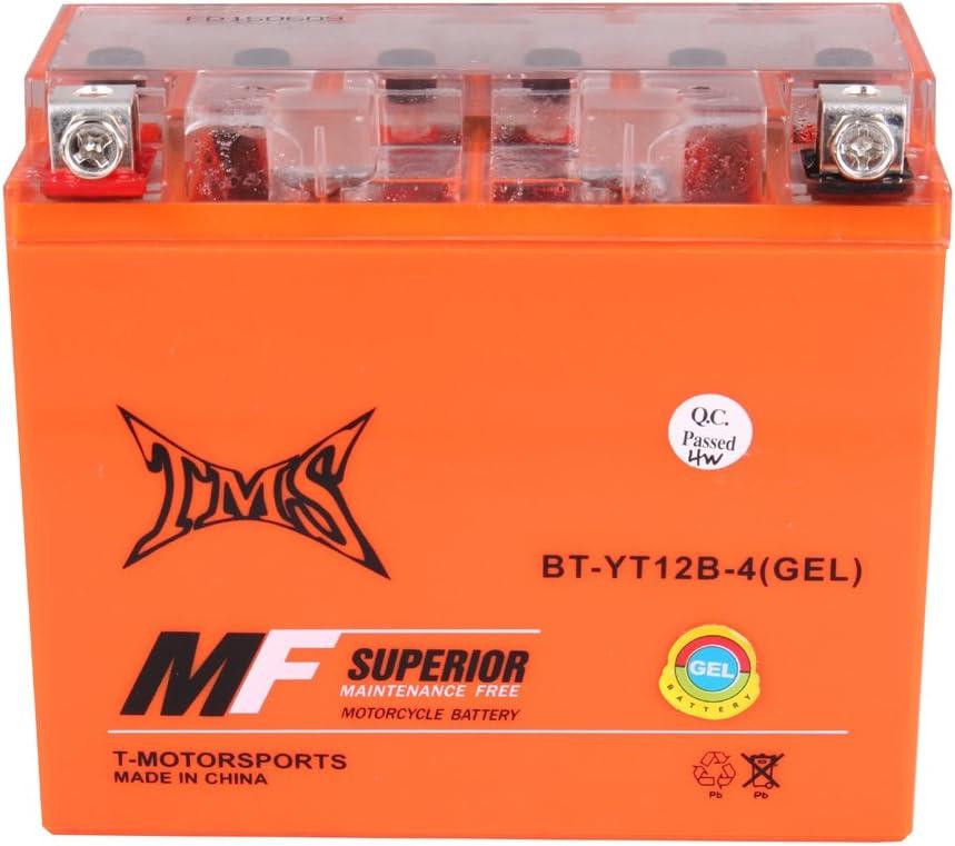 YT12B-BS YT12B-4 Battery Ducati Triumph Kawasaki Yamaha SRX600 XVS650 V Star