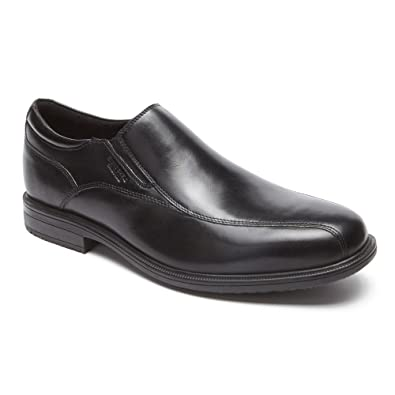 Rockport Men's Essential Details II Bike Toe Slip On,Black Leather,US ...