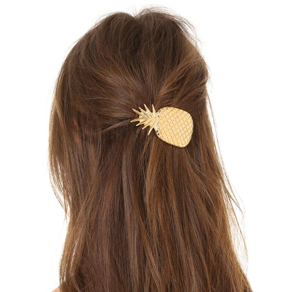 Amazon Com Gracelife Hair Pins Pineapple Shape Women Lady Girls Hair Clips Delicate Hair Barrettes Hair Accessories Decorations Beauty