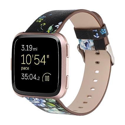 Fitbit Versa Correa, ☸ Zolimx Repuesto para Reloj Inteligente Fitbit Versa 2018 Piel Auténtica Correa