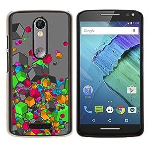 LECELL--Funda protectora / Cubierta / Piel For Motorola MOTO X3 3rd -- Colores --
