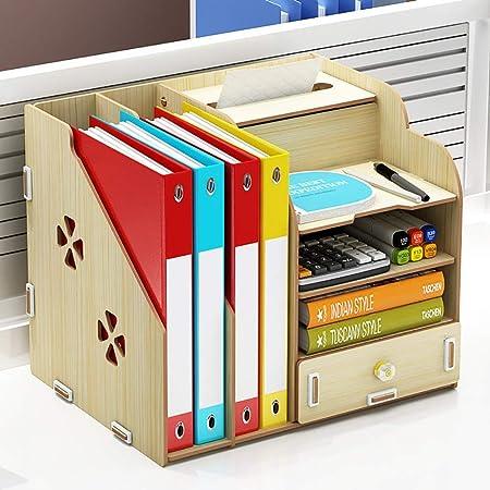 Archivadores móviles Caja de almacenamiento de escritorio Estantería de carpetas Libros Revista Archivo Organizador múltiples capas de almacenamiento en rack Pantalla grande capacidad y la caja de alm: Amazon.es: Hogar