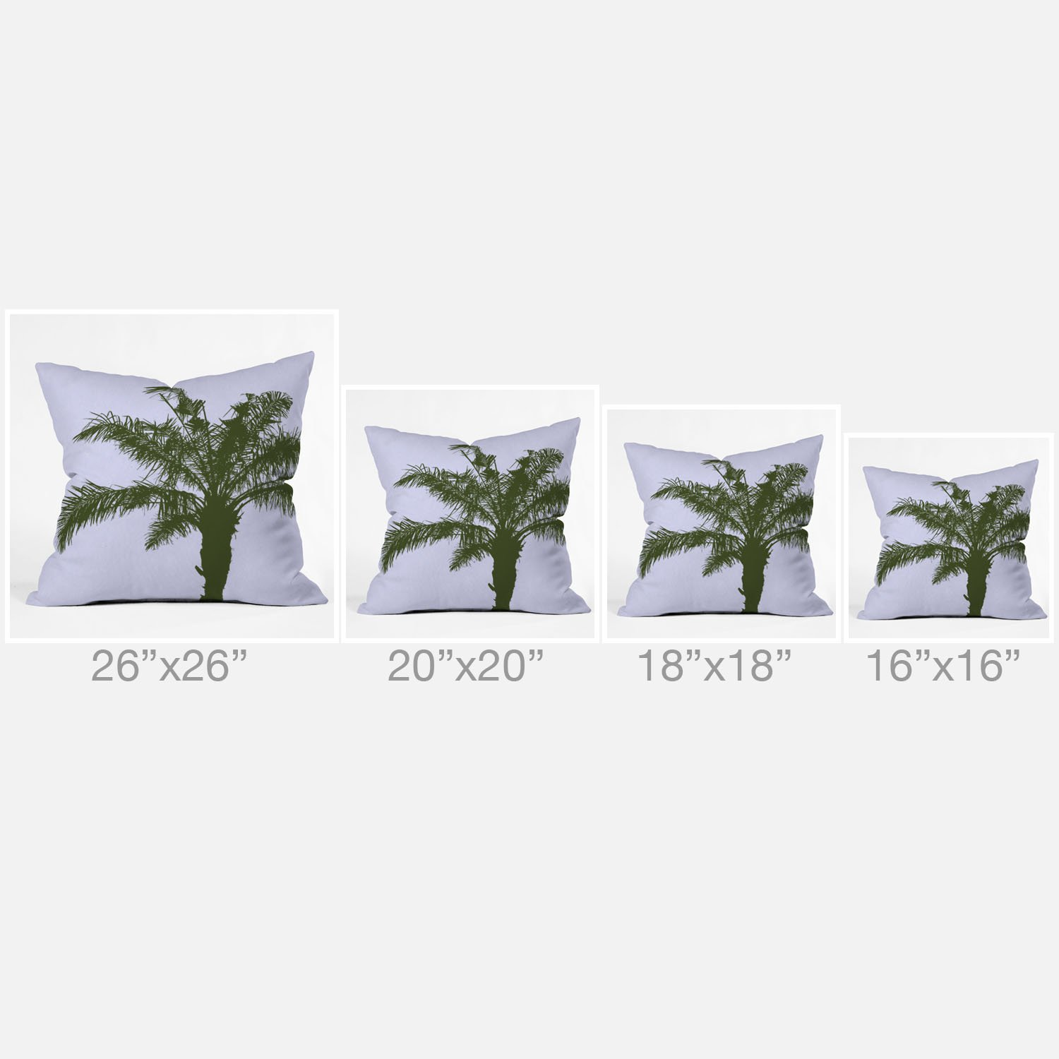 LG 15295-othrp20 20 x 20 Deny Designs Deny Designs Deb Haugen Olive Palm Outdoor Throw Pillow