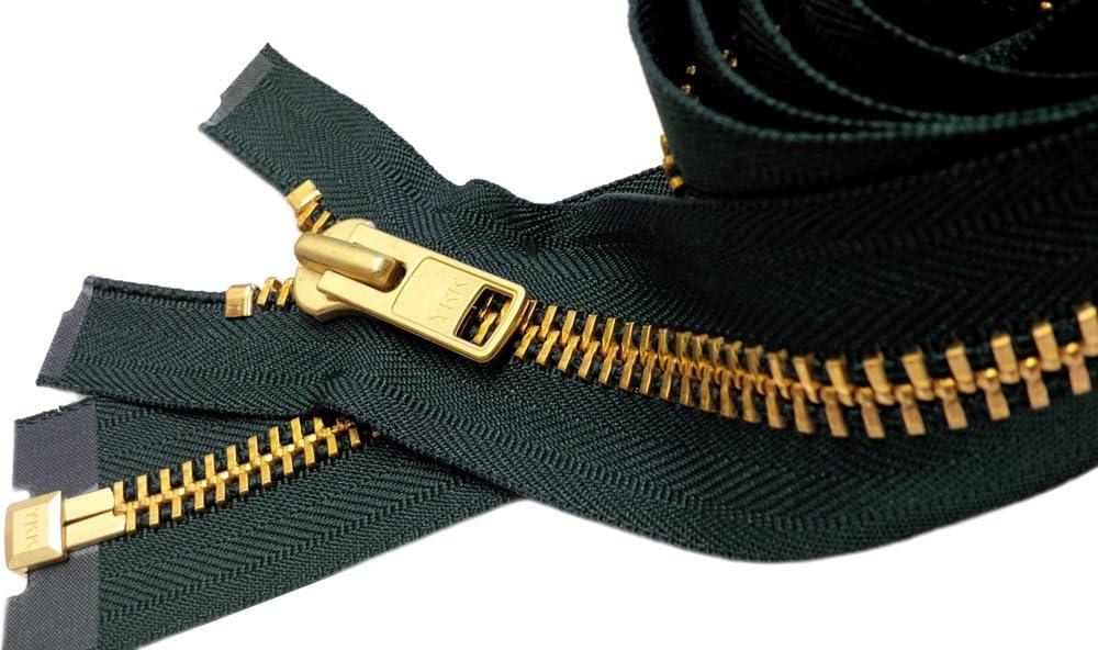 YKK #10 Brass Separating ~ Color 890 Hemlock Green 1 Zipper//pack Sale 21\ Extra Heavy Duty Jacket Zipper Special Custom