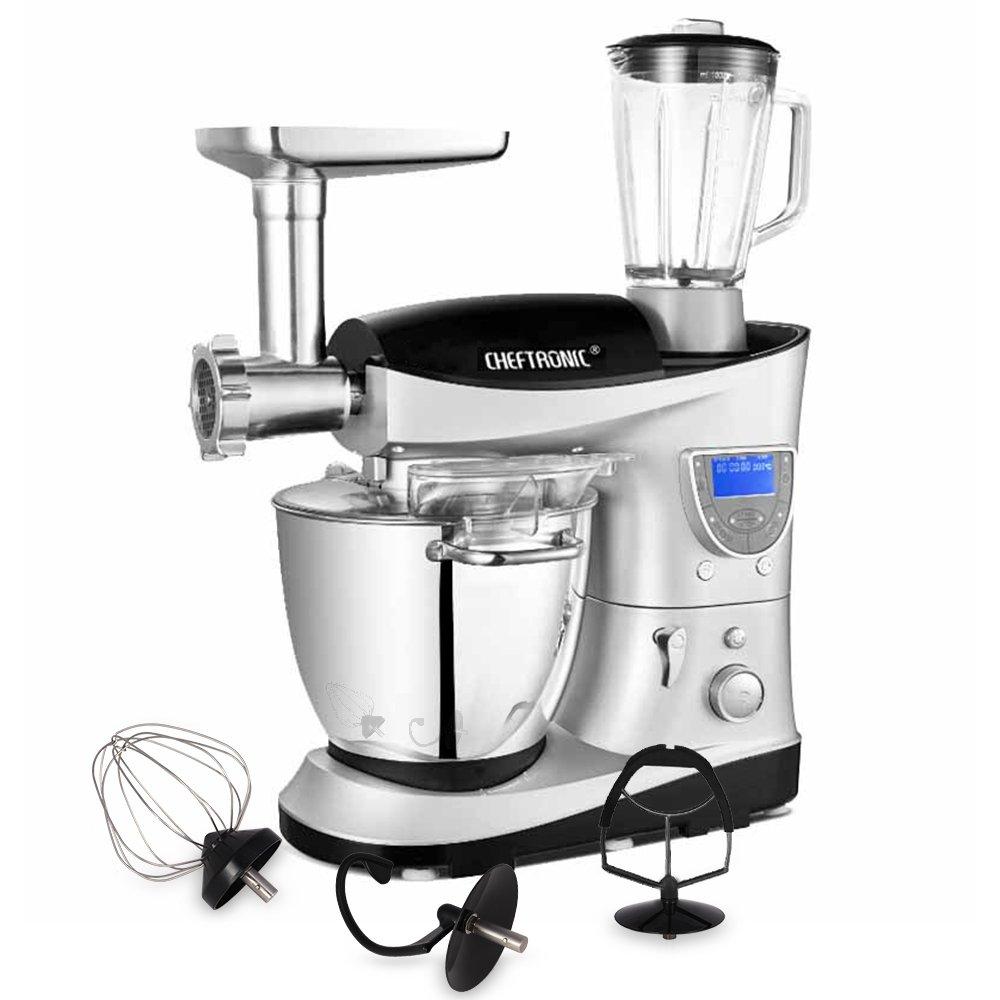 CHEFTRONIC Robot de Cocina Multifunción Batidora Amasadora SM  V  W