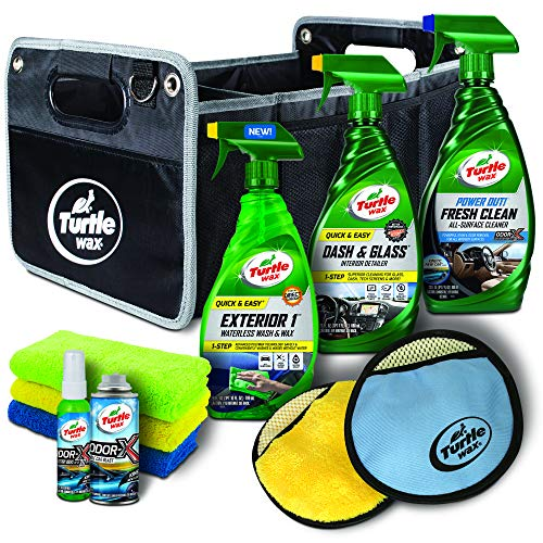 Turtle Wax 51019 11pc On-The-Go Detailing Rideshare Kit, Clean Cars Get 5 Stars, 73. Fluid_Ounces - Kit Car Accessory