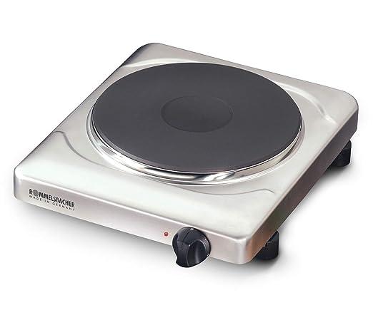 Rommelsbacher THS 2022/E Gastro - Cocina eléctrica portátil con un fuego (22 cm), acero