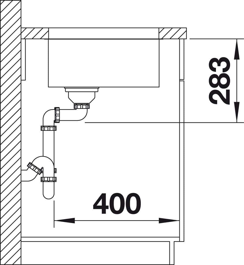 Blanco 518205 Blancosupra 500-U acero inoxidable cepillado, sin v/álvula de desag/üe tipo cestilla Fregadero de cocina de 1 cubeta
