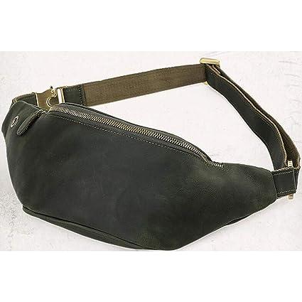6c1748cb85d8 Amazon.com: Carriemeow West Bag Waist Pouch Men's Real Leather Body ...