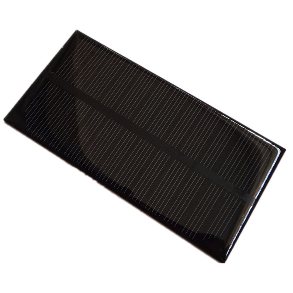 2Pcs 1W 6V 125x63x3mm Mini Power Monocrystalline Solar Cell Panel Module For DIY Solar Light Battery Charger Toy Flashlight Power Bank (2)