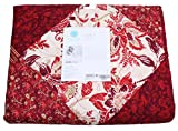 Martha Stewart Sumerset Square Reversible Quilt; Red King (106 In X 92 In)