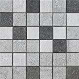 kitchen backsplash ideas  Porcelain Tile Mosaic | Three Colors Mixed Kitchen Backsplash Idea Bath Shower Wall Decor Art Mosaics, 8 Pcs 12'' X 12'' / Each, MZ1220-S1-FBA-1SET