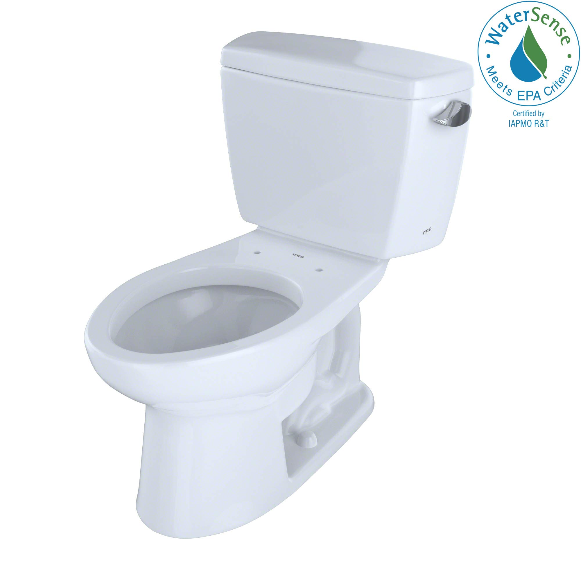 TOTO CST744ELR#01 Drake 2-Piece Eco Elongated Ada Toilet with Right-Hand Trip Lever, Cotton White by TOTO
