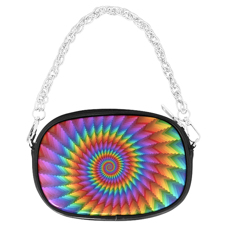 ADEDIY Psychedelic Rainbow Spiral Chain Purse (M1626) Mini Handbag