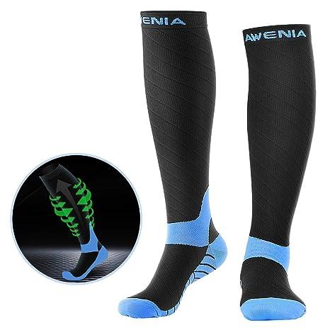 b8bb149ae6d755 Awenia Kompressionsstrümpfe Sport Kompressionssocken Laufen für Damen und  Herren Ihre schmerzenden Fersen
