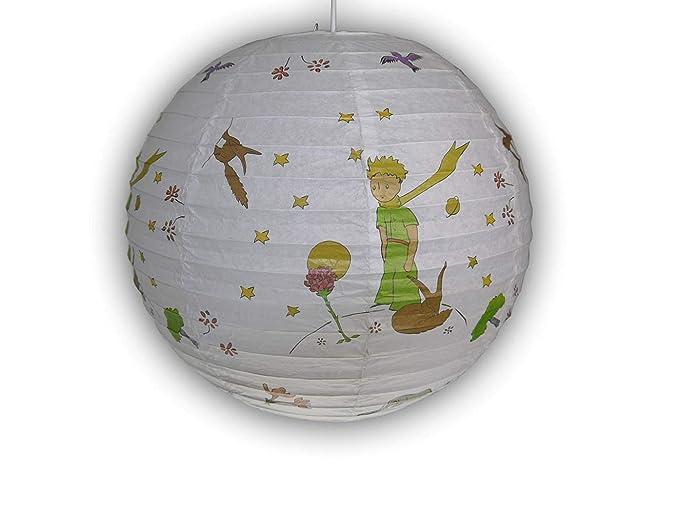Lámpara colgante papel globo el principito 40 cm de diámetro, incluye bombilla de suspensión para E27