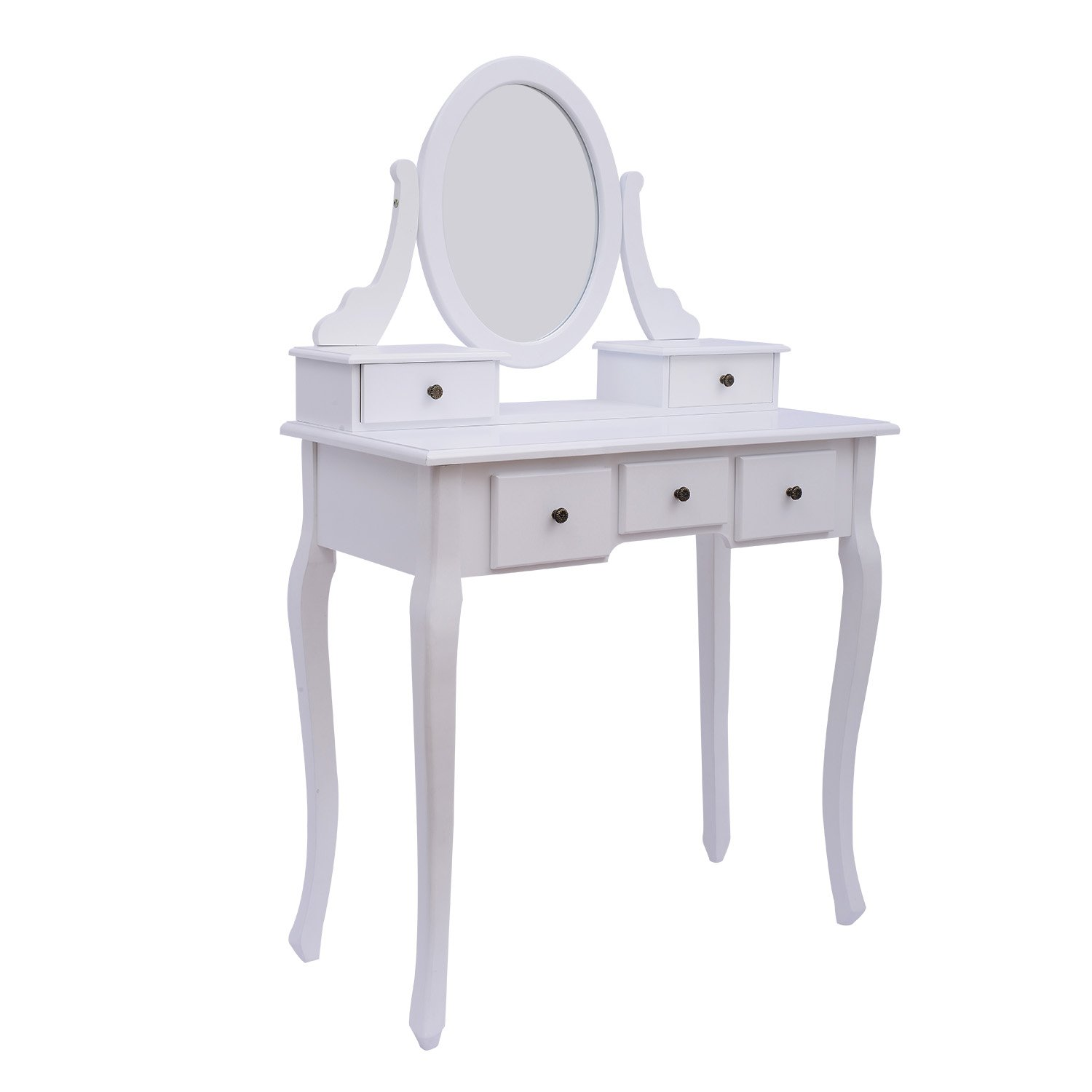 Homcom dressing table stool makeup mirror wood dresser antique homcom dressing table stool makeup mirror wood dresser antique style shabby chic with vanity mirror stool white amazon home kitchen geotapseo Images
