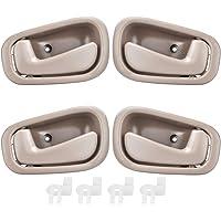 Beige manija de la puerta interior para la serie 3 2004-2012 Manija interior del autom/óvil Panel de la puerta interior Recorte del lado derecho