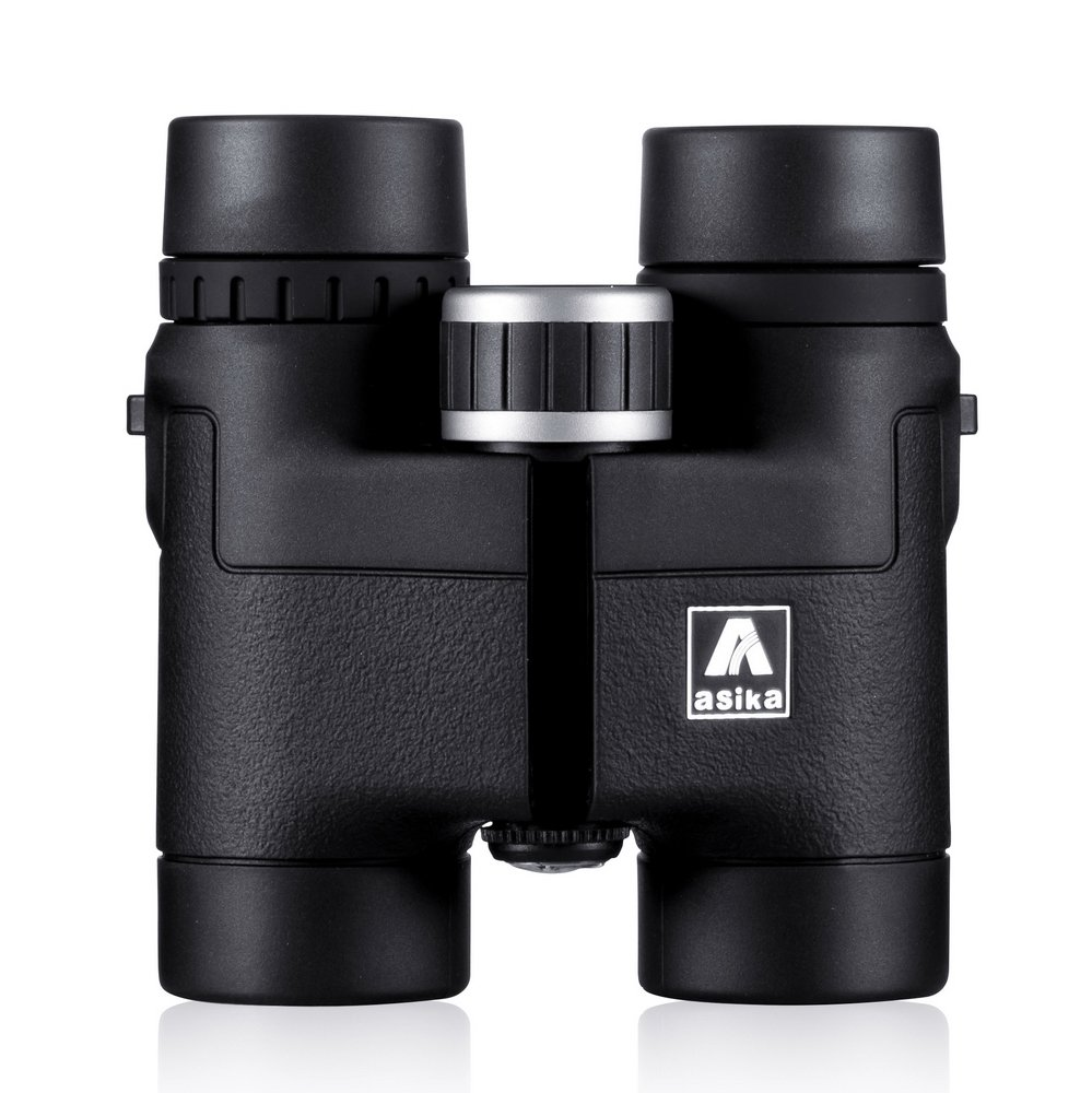 BNISEコンパクト双眼鏡 バードウォッチング用 Asika 8x32 HD軍用望遠鏡 ハンティングとトラベル用 ストラップ付き ハイクリアビジョン ブラック B01E05KULO